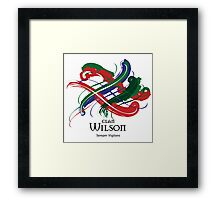 Clan Wilson - Prefer your gift on Black/White tell us at info@tangledtartan.com  Framed Print