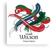 Clan Wilson - Prefer your gift on Black/White tell us at info@tangledtartan.com  Canvas Print