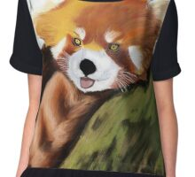 Red panda Squee Chiffon Top