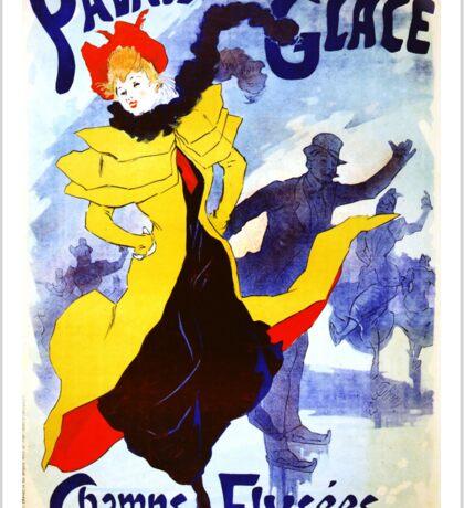 'Palais De Glace' by Jules Cheret (Reproduction) Sticker