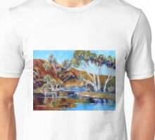 The Flinders Ranges After The Rains - Oil Painting Unisex T-Shirt