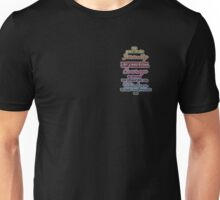 Serenity Courage Wisdom Colorful Text Unisex T-Shirt