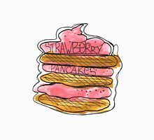 Watercolor acrylic drawing of pancakes with strawberry cream Unisex T-Shirt