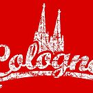 Cologne Classic Vintage Rot/Weiß by theshirtshops