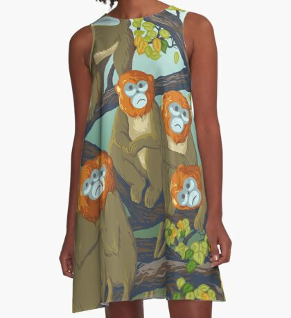 Monkeys A-Line Dress