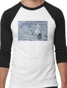 Bottoms Up Swan Men's Baseball ¾ T-Shirt