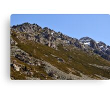 snowy mountains of Andorra La Vella Canvas Print