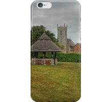 Woodbastwick village green and church iPhone Case/Skin