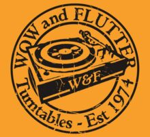 Wow & Flutter Turntables T-Shirt and Sticker - Worn Well by Ra12