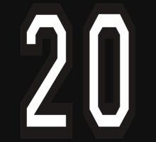 20, TEAM SPORTS, NUMBER 20, TWENTY, TWENTIETH, Competition,  Kids Tee