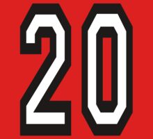 20, TEAM SPORTS, NUMBER 20, TWENTY, TWENTIETH, Competition,  One Piece - Short Sleeve