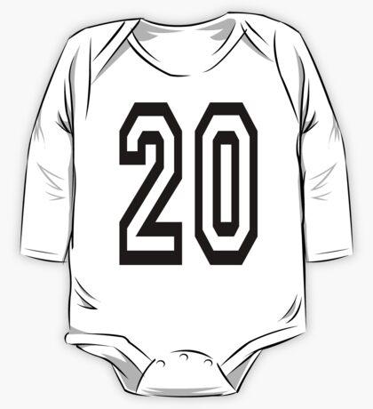 20, TEAM SPORTS, NUMBER 20, TWENTY, TWENTIETH, Competition,  One Piece - Long Sleeve
