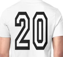 20, TEAM SPORTS, NUMBER 20, TWENTY, TWENTIETH, Competition,  Unisex T-Shirt