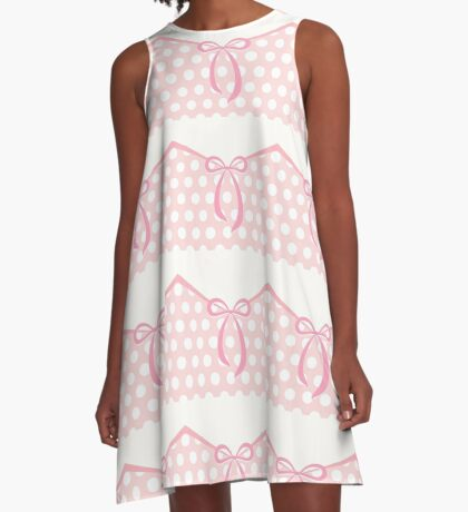 Cute bow with dots pattern A-Line Dress