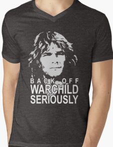 back off warchild Mens V-Neck T-Shirt