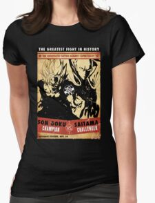 The greatest fight in history Womens Fitted T-Shirt