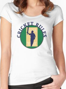 Cricket Rules Women's Fitted Scoop T-Shirt