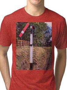 Signal on the North Norfolk Railway Tri-blend T-Shirt