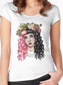 Flower Crown  Women's Fitted Scoop T-Shirt