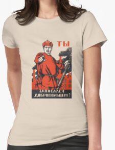 Sovie War Poster II Womens Fitted T-Shirt