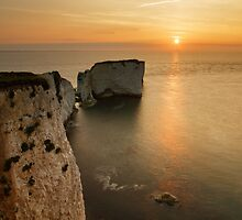 Sunrise Old Harry Rocks by Ian Middleton