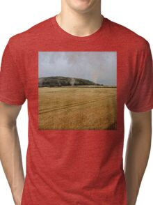Countryside from a steam train Tri-blend T-Shirt