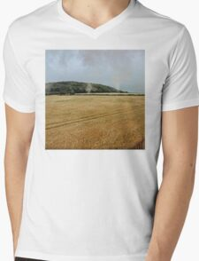 Countryside from a steam train Mens V-Neck T-Shirt