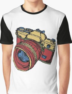 Classic 35mm SLR Camera in Fall Colors Graphic T-Shirt