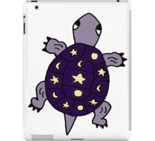 Cool Artistic Purple Turtle with Moon and Stars iPad Case/Skin