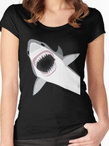 Great White Shark Attack Women's Fitted Scoop T-Shirt
