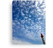 Le phare dans les nuages. Canvas Print