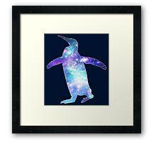 Space Penguin Framed Print
