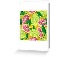 Citrus background Greeting Card