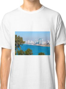 Israel, Tel Aviv coastline as seen from south from Old Jaffa Classic T-Shirt
