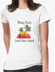 Blinky Beach Lord Howe Island Womens Fitted T-Shirt