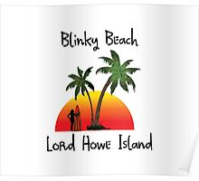 Blinky Beach Lord Howe Island Poster
