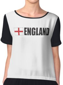 ENGLAND, English, Football, Soccer, Cross of St George, Sport,  Event Chiffon Top