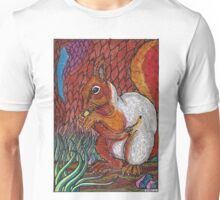 red squirrel (colour) Unisex T-Shirt