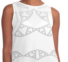Purity - elegance in silver Contrast Tank