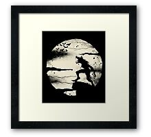 Werewolf With The Full Moon Framed Print
