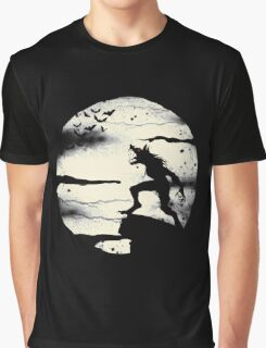 Werewolf With The Full Moon Graphic T-Shirt