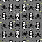 Vampira and Spiders by Christina Draws