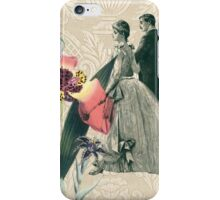 Coral Floral Bride Groom Wedding Day iPhone Case/Skin