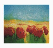 POPPY FLOWERS LANDSCAPE One Piece - Short Sleeve