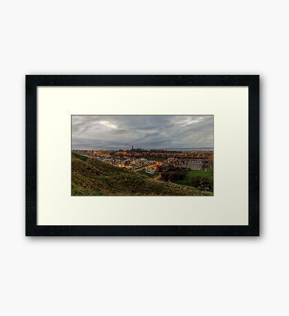 The City of Edinburgh from the Crags Framed Print