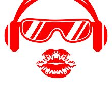 Kiss DJ Party Music Celebration Glasses Headphones by Style-O-Mat