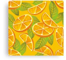 Orange background Canvas Print