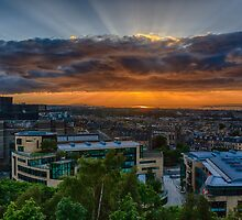 Edinburgh Sunset from Calton Hill by Miles Gray