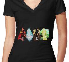 RWBY - Ruby Weiss Blake Yang Women's Fitted V-Neck T-Shirt