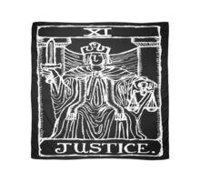 Justice Tarot Card Print Scarf